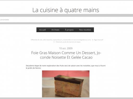 @La cuisine à quatre mains // Foie gras comme un dessert