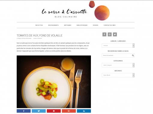 @Le verre & l'assiette // Tomates de Huy, fond de volaille