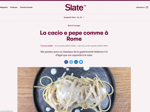 @Slate // La cacio e pepe comme à Rome