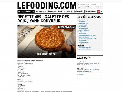 @Lefooding.com // Galette des rois de Yann Couvreur