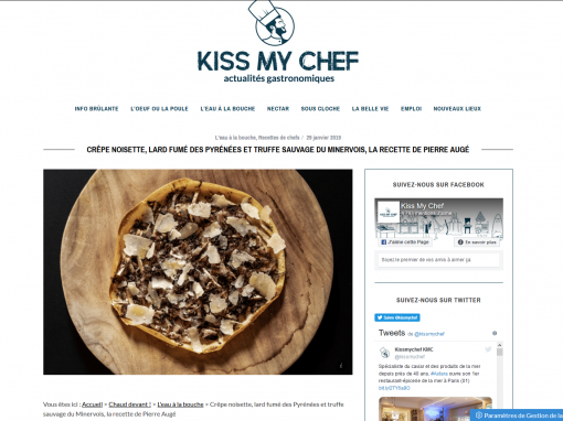 @Kiss my chef // Crêpe noisette, lard et truffe