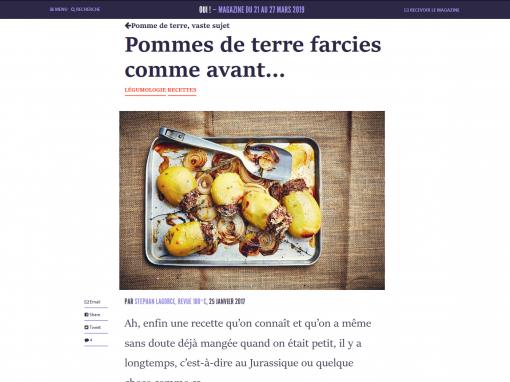 @La ruche qui dit oui! // Pommes de terre farcies comme avant…