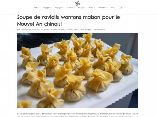 @La cuisine à quatre mains // Soupe de raviolis wontons