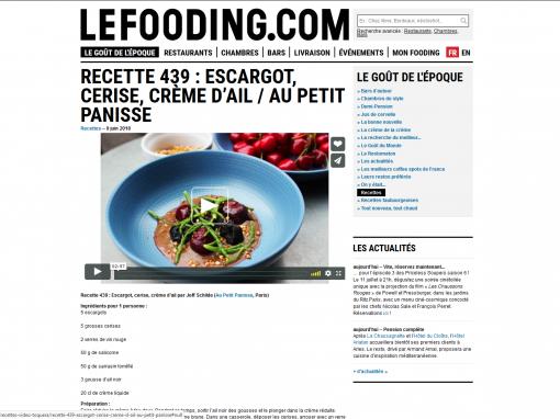 @Lefooding.com // Escargots, cerises, ail noir