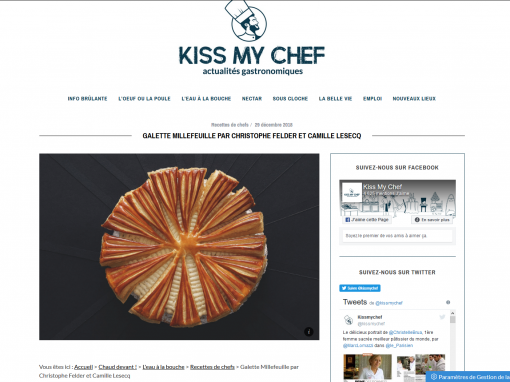 @Kiss my chef // Galette millefeuille