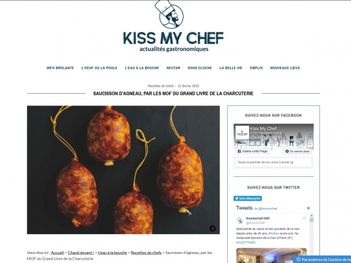 @Kiss my chef // Saucisson d'agneau